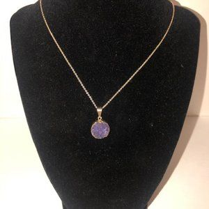 Custom Amethyst Necklace on gold chain